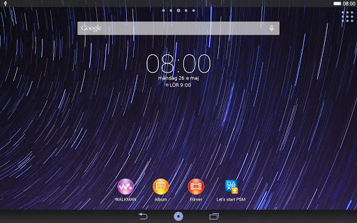 XPERIA Starry Sky Theme - screenshot