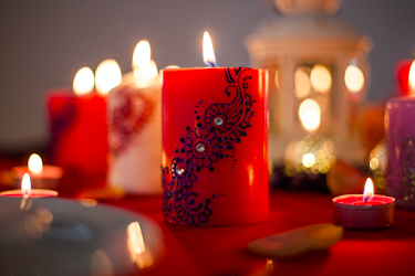 Le Rouge De La Vie's henna candles are perfect for both home and celebratory events.