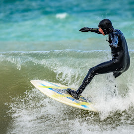 Wave breaking by Wilma Michel - Sports & Fitness Surfing ( surfing, waves, beach, lake shore, surfers )