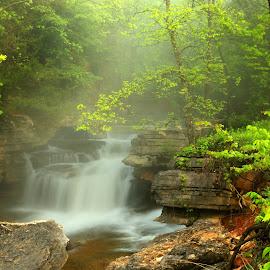 HIDEAWAY by Dana Johnson - Landscapes Waterscapes ( waterscape, hidden, falls, landscape,  )