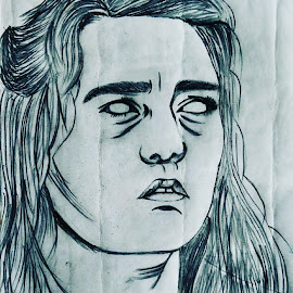 Arya Stark.. Character of GOT by Paulomi Das - Drawing All Drawing ( #love2draw, #favgotcharacter, #gotcharacter, #pencilsketch, #aryastark )