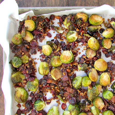 Bacon Cranberry Brussel Sprout Medley
