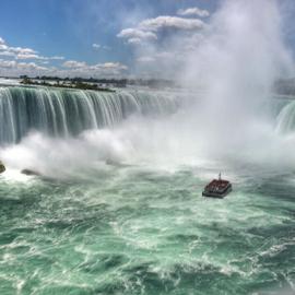 Niagara falls by Kathy Dee - Instagram & Mobile iPhone ( water, vacation, canada, niagara falls, boat )