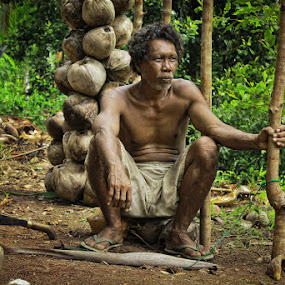 coconut man by Christian Setiawan - People Portraits of Men