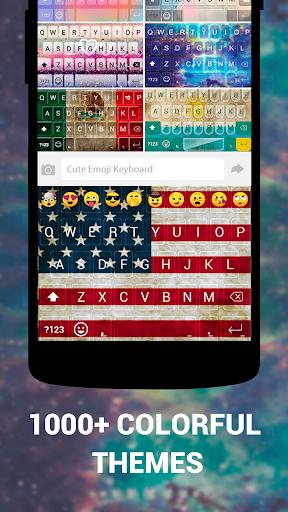 Emoji Keyboard Cute Emoticons - Theme, GIF, Emoji screenshot 2