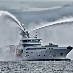 The Norwegian Coast Guard vessel KV Harstad by Kenneth Pettersen - Transportation Boats ( marine, coast guard, harstad, kv, andøy )