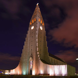 Church by Ben, Instagram: @bgrantphotos - Novices Only Street & Candid ( iceland, my1eye, church, street, buildings, night )