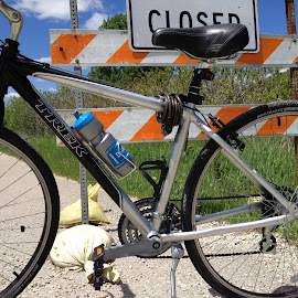 by Barry Lehman - Transportation Bicycles ( biking, closed, douglas trail, bicycle )