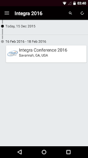 Integra Conference 2016 - screenshot