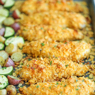 Baked Ranch Chicken Tenders and Veggies