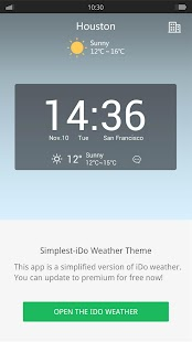 Simplest - iDo Weather widget - screenshot