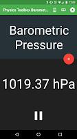 Screenshot of Physics Toolbox Barometer