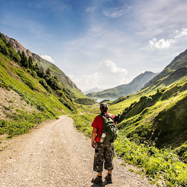 Wanderer in the Hills  by Linda Brueckmann - Landscapes Mountains & Hills