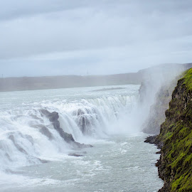 Gulfoss Waterfall Iceland by Philip Rugel - Landscapes Waterscapes