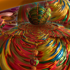 Great Balls Of Fire  by Rick Eskridge - Illustration Abstract & Patterns ( abstract, mb3de, jwildfire, fractal, twisted brush )