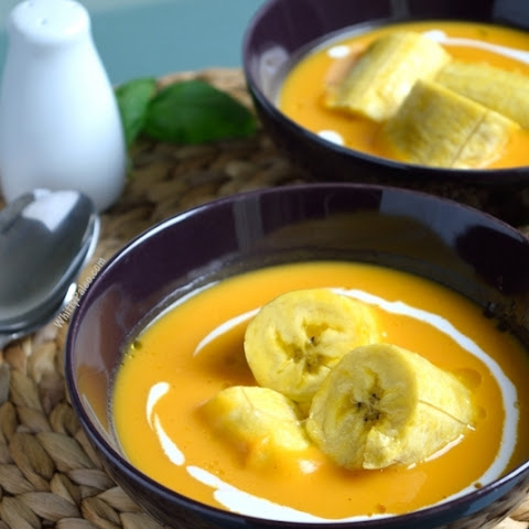 Sweet Boiled Plantains and Butternut Squash Soup