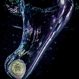No coin insert by Adriano Freire - Abstract Water Drops & Splashes ( water, splash, coin, insert, photo )