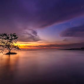 Sunset in Pantai Jeram, Malaysia by Edwin Ng - Landscapes Sunsets & Sunrises ( pantai, sunset, malaysia, beach, jeram )