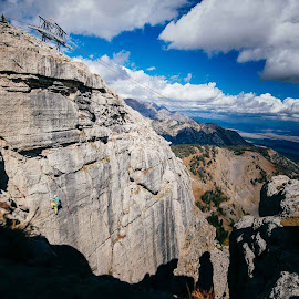 Making The Climb by Tyler Rickenbach - Sports & Fitness Climbing ( climbing, rock climbing, nature, jackson, wyoming, outdoors, landscape )