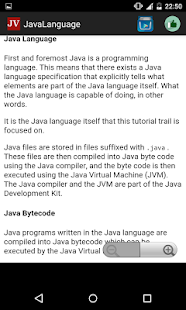 Java language - screenshot