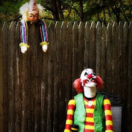 Clowning Around by Kenneth Cox - Public Holidays Halloween ( scary, decoration, clown, weird, halloween )