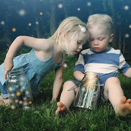 Catching lightning bugs:) by Elizabeth Haag - Babies & Children Toddlers ( KidsOfSummer )