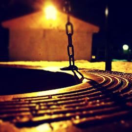Playground by Vamsi Naradasu - Abstract Macro ( playground, dark, ottawa, night, tyre, light )