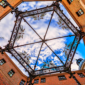 Inside the wishing well by Manu Heiskanen - Uncategorized All Uncategorized ( old, window, cloud, castle, well, wishingwell, paulinawolekpardon )