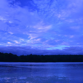 nighttime on Lake Jamie by Ray Stevens - Landscapes Cloud Formations