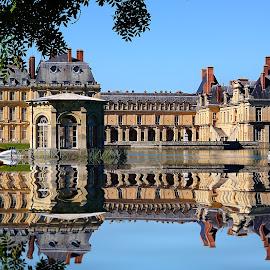 Fontainebleau reflexion by Gérard CHATENET - Digital Art Places