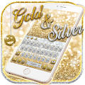 Gold and Silver Glitter Keypad