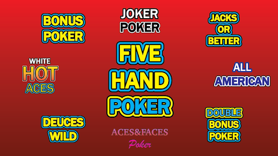 Free 5 hand video poker