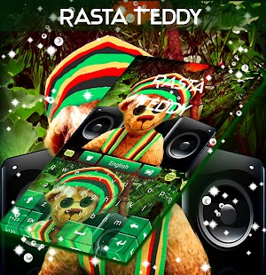 Rasta Teddy Bear Keyboard - screenshot