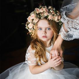 Bella by DMYTRO SOBOKAR - Wedding Other ( child, sobokar.com, girl, dress, wedding, pentaxk1, art, beautiful, sobokar, flowers, pretty, portrait )