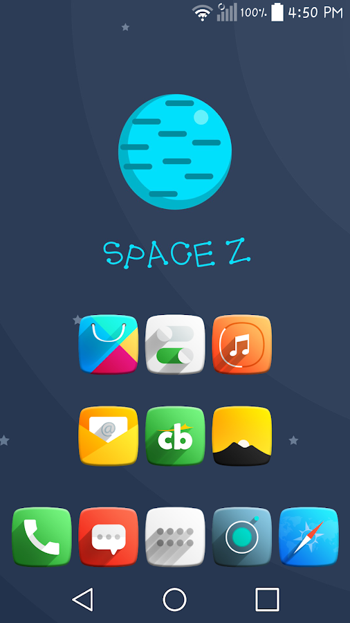 Space Z Icon Pack Theme Screenshot 0