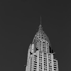 Chrysler  Building by Victor Mirontschuk - Buildings & Architecture Office Buildings & Hotels ( b&w, buildings, places, nyc, architecture )