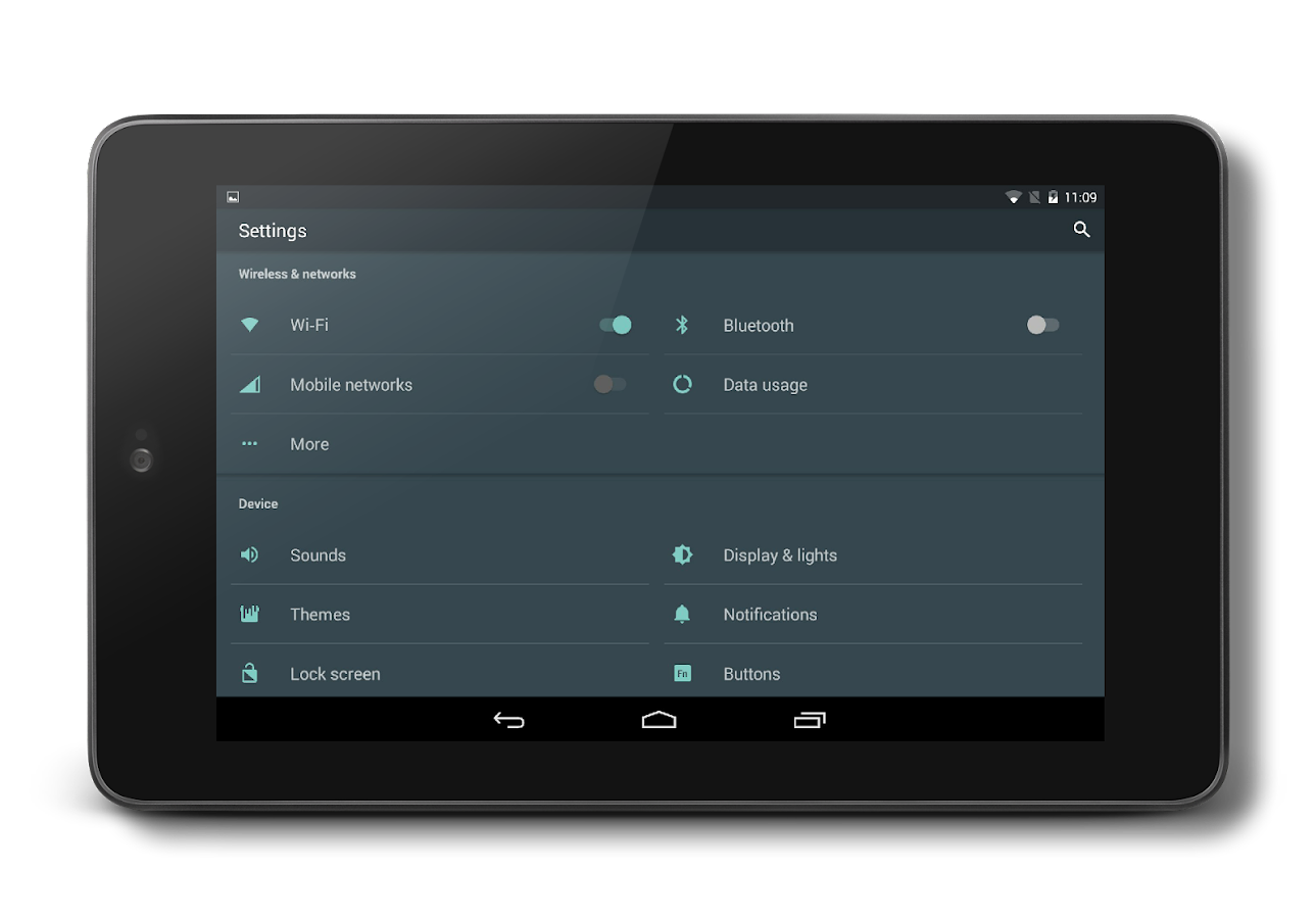 AOSP Dark Material CM13 THEME Screenshot 8