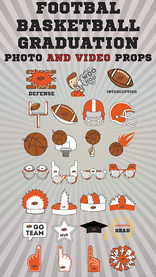 Oklahoma State Cowboys Animierte Selfie Aufkleber android apps download