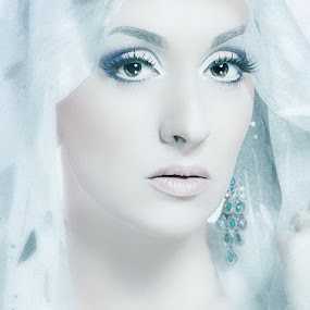 ICE by Ina Pandora - People Portraits of Women ( girl, blue, woman, lady, high, key )