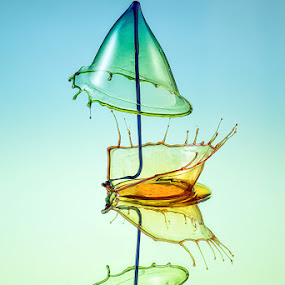 OVer the Crown by Markus Reugels - Abstract Water Drops & Splashes ( markus reugels, water drop )