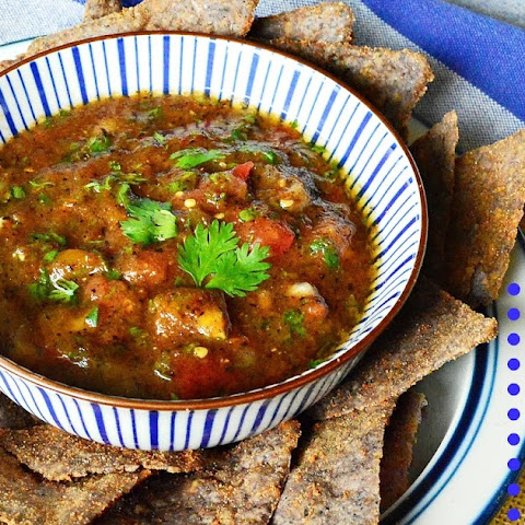 Fire Grilled Tomato Salsa (Baja Style)