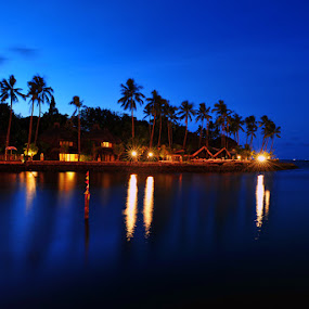 blue hour by Anif Putramijaya - Landscapes Waterscapes