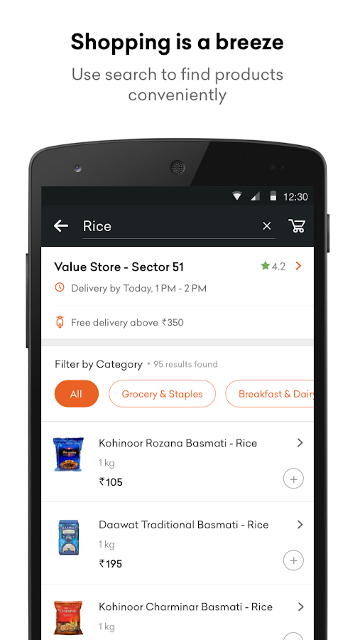 Grofers - Online Grocery Screenshot 2