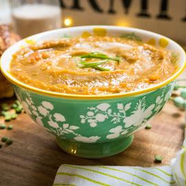 Split Pea Soup by Antonio Winston - Food & Drink Plated Food