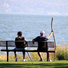 Taking a rest by Janet Smothers - People Couples
