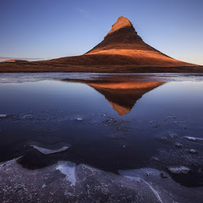 Embrace by Bragi Ingibergsson - Landscapes Mountains & Hills ( water, iceland, mountain, nature, autumn, brin, ice, bragi j. ingibergsson, shadow, landscape, light )