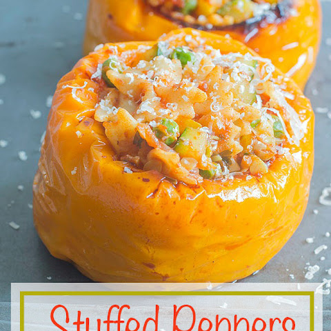 Stuffed Peppers With Pasta Primavera