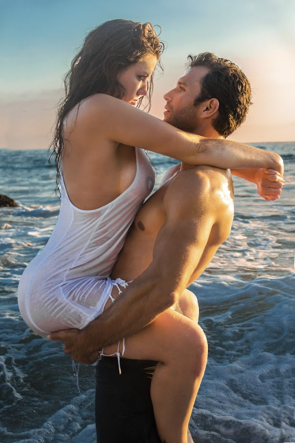 Sea Of Lust by Rachelle Crockett - People Couples ( sexy, sunset, ocean, passion, romance )