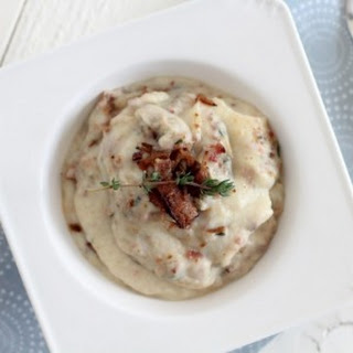 Bacon & Thyme Mashed Cauliflower