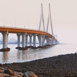 Bandra by Pranil Chintewar - Buildings & Architecture Bridges & Suspended Structures